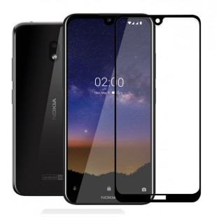 گلس نوکیا full glue glass nokia 2.2 تمام صفحه و تمام چسب