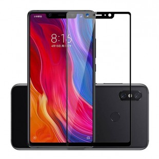 گلس شیائومی full glue glass xiaomi mi 8SE تمام صفحه و تمام چسب