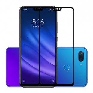 گلس شیائومی full glue glass xiaomi mi 8lite تمام صفحه و تمام چسب