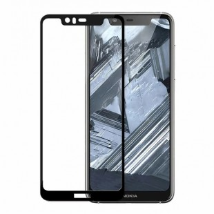 گلس نوکیا full glue glass nokia 5.1 plus تمام صفحه و تمام چسب