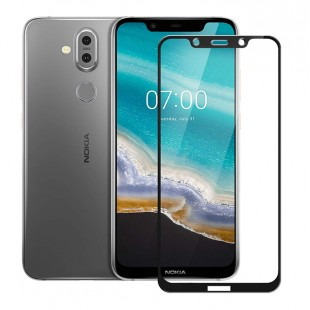 گلس نوکیا full glue glass nokia 7.1 تمام صفحه و تمام چسب