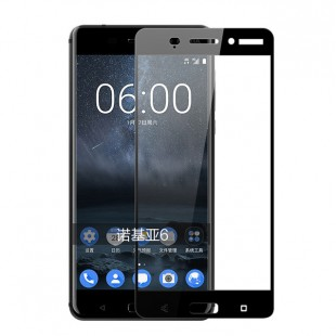 گلس نوکیا full glue glass nokia 6 تمام صفحه و تمام چسب