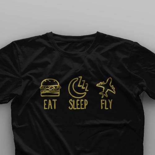 تیشرت Eat, Sleep, Fly #1