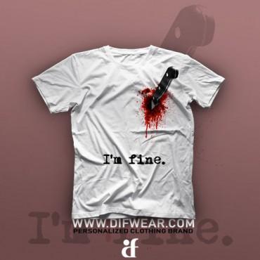 تیشرت I'm Fine #4