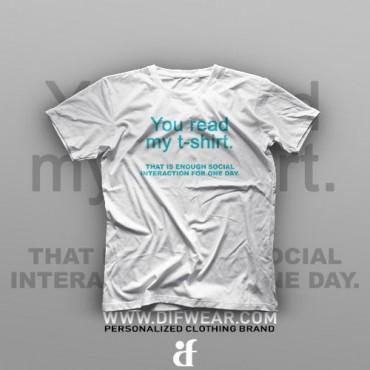 تیشرت You Read My T-Shirt