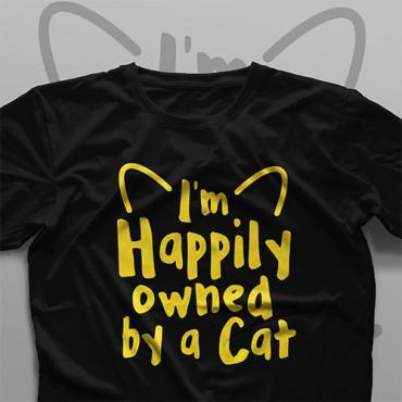 تیشرت I'm Happily Owned By A Cat