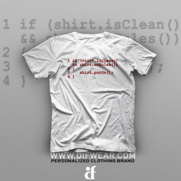 تیشرت Programming: shirt.isClean #17