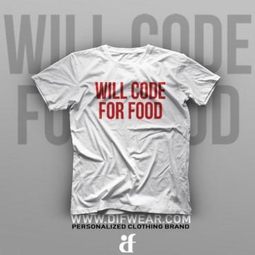 تیشرت Programming: Will Code For Food #5
