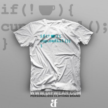 تیشرت Programming: Cup Refill #2