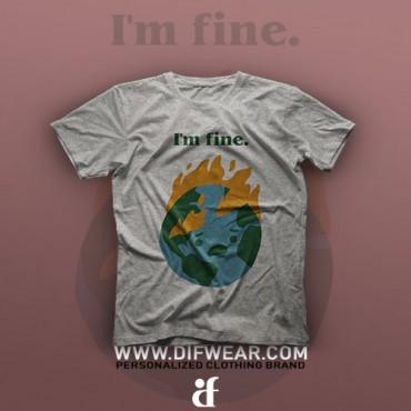 تیشرت I'm Fine #8