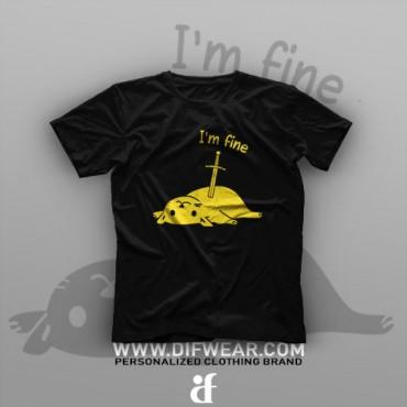 تیشرت I'm Fine #9