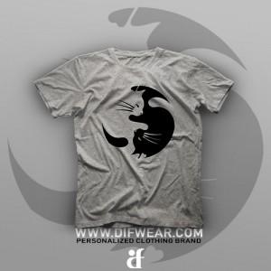 تیشرت Yin And Yang Cat