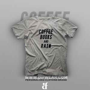 تیشرت Coffee, Books and Rain