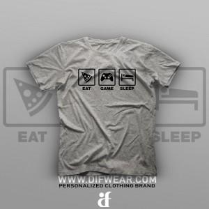 تیشرت Eat, Game, Sleep