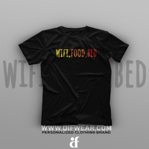 تیشرت Wifi, Food, Bed