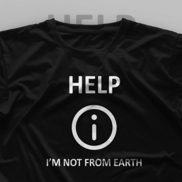 تیشرت Help, I'm Not From Earth