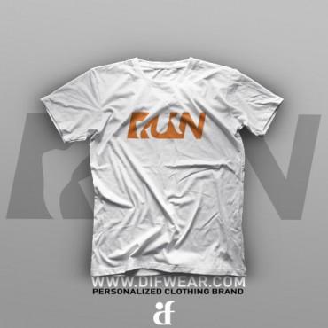 تیشرت Logo Art: Run #8