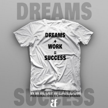 تیشرت Dreams + Work = Success