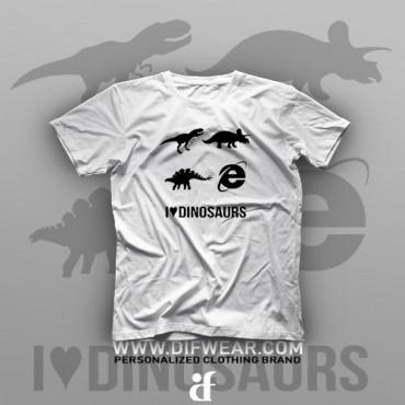 تیشرت I Love Dinosaurs