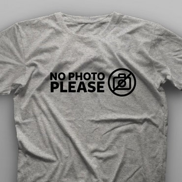 تیشرت No Photo Please #1
