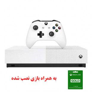 کنسول بازی مایکروسافت Xbox One S تک دسته نسخه دیجیتال(به همراه بازی نصب شده)