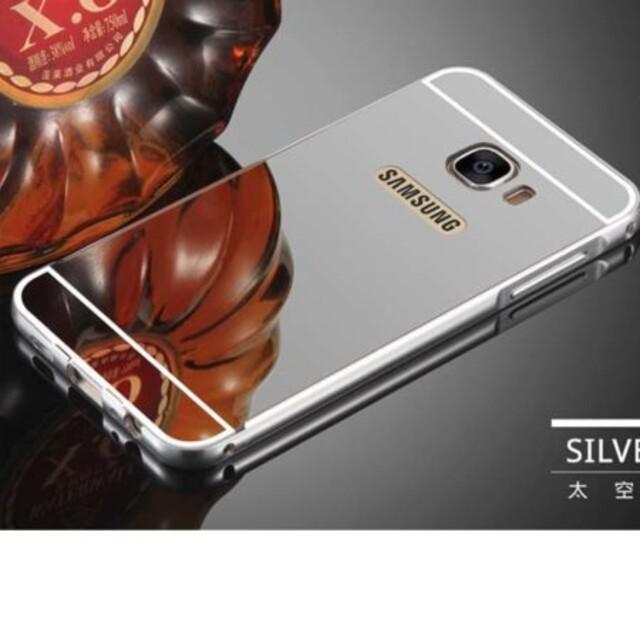 قاب آینهای دور فلزی موبایل سامسونگ A9 Pro