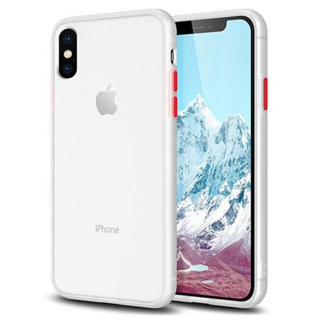 قاب باسئوس دور رنگی مات iPhone X/XS