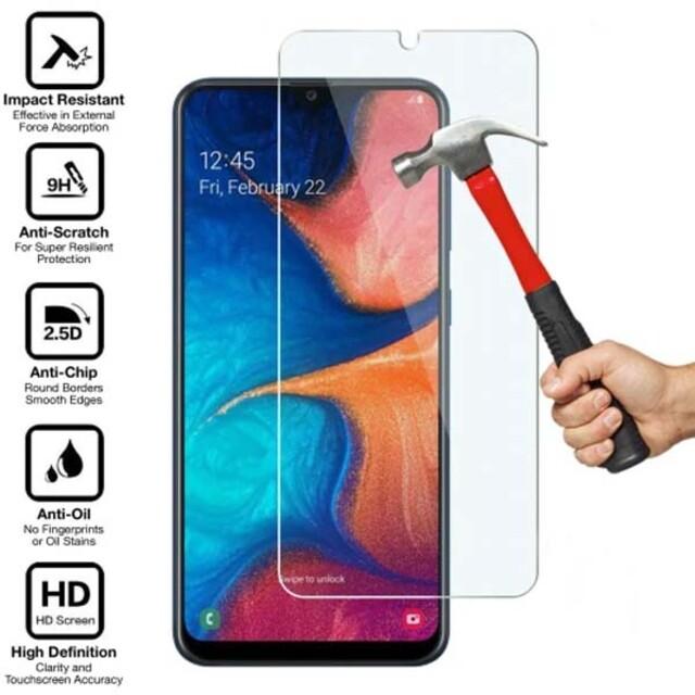 محافظ صفحه نمایش شیشهای 414 گوشی موبایل سامسونگ A20