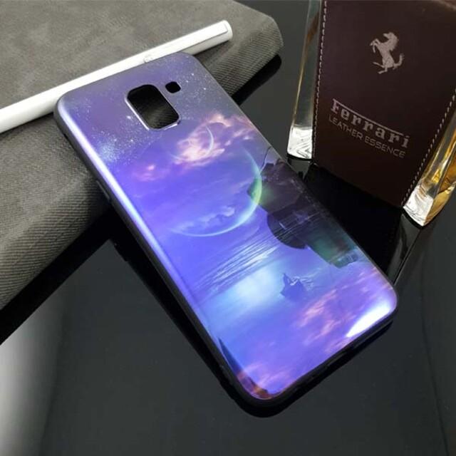 قاب طرح کهکشان مناسب برای موبایل سامسونگ J6 Plus