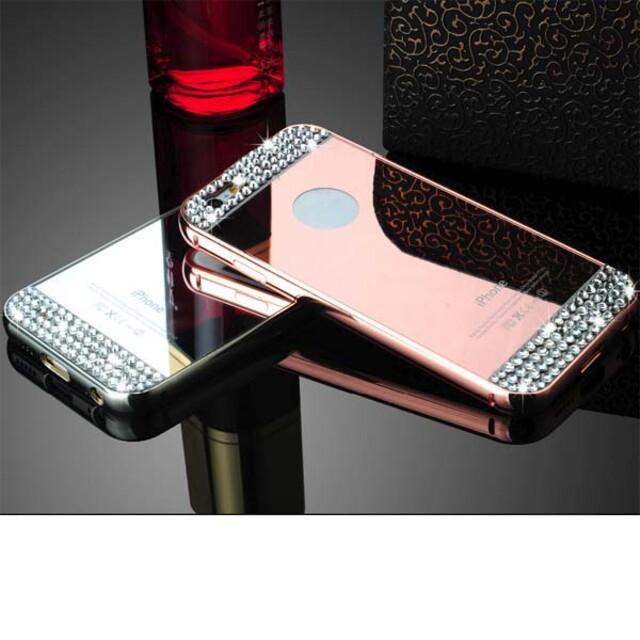 قاب آینهای نگیندار دور فلزی موبایل آیفون ۶/۶s پلاس