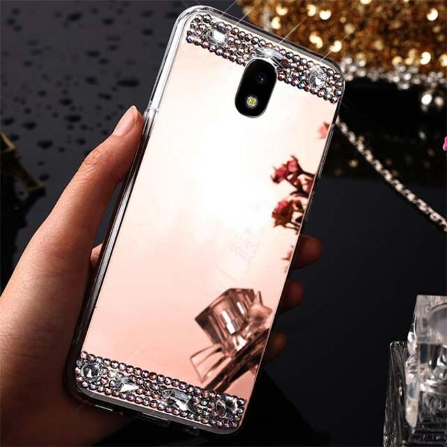 قاب آینهای نگیندار دور فلزی موبایل سامسونگ J5 Pro