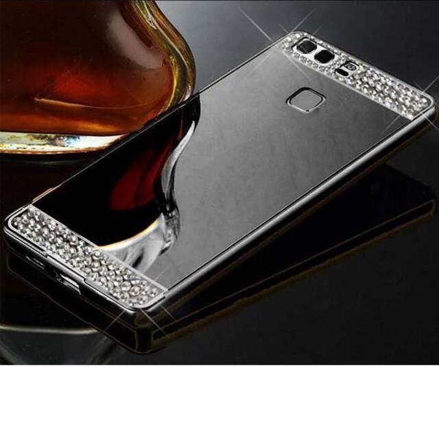 قاب آینهای نگیندار دور فلزی موبایل هواوی P9