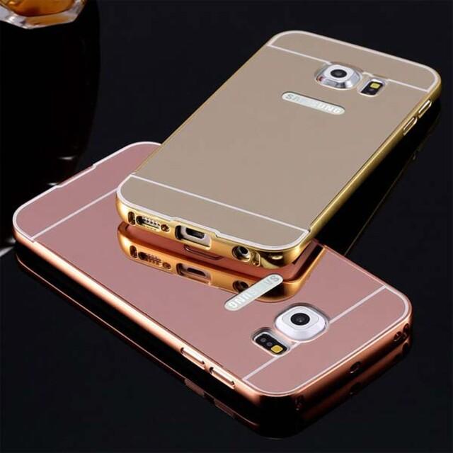قاب آینهای دور فلزی موبایل سامسونگ S6 Edge