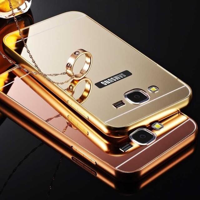 قاب آینهای دور فلزی مناسب برای گوشی سامسونگ A7 2016