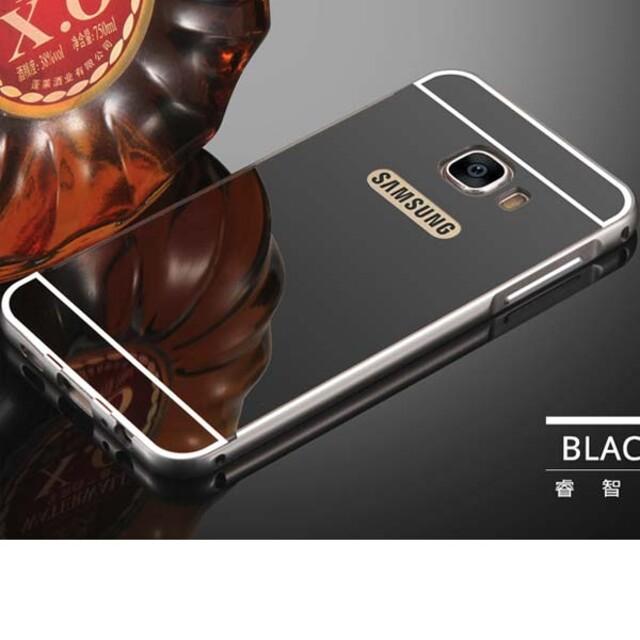 قاب آینهای دور فلزی موبایل سامسونگ Galaxy A3 2017