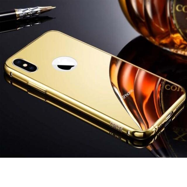 قاب آینهای دور فلزی موبایل آیفون X