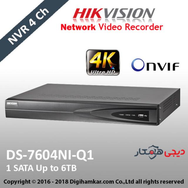 ضبط کننده ویدیویی تحت شبکه NVR هایک ویژن مدل DS-7604NI-Q1