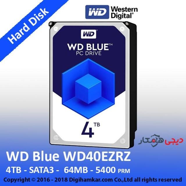 هارددیسک اینترنال وسترن دیجیتال مدل Blue WD40EZRX ظرفیت 4 ترابایت