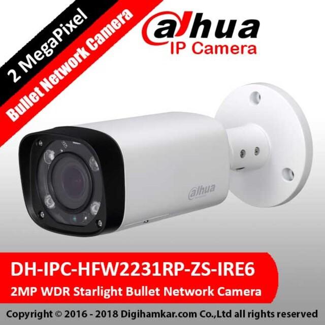 دوربین تحت شبکه بولت موتورایز داهوا مدل DH-IPC-HFW2231RP-ZS-IRE6
