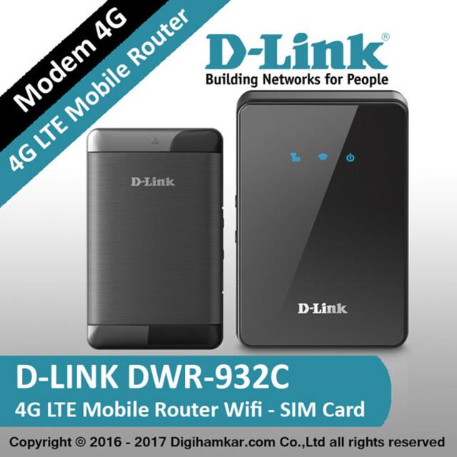 مودم قابل حمل 4G LTE دی-لينک مدل DWR-932C