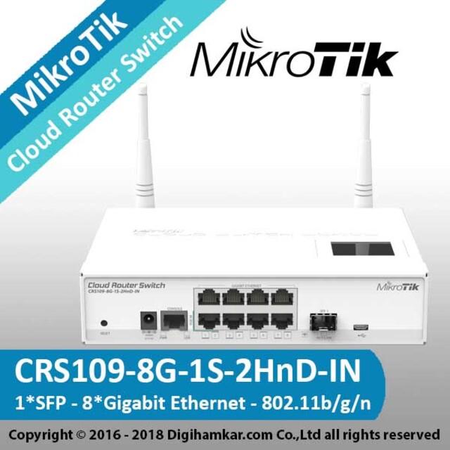 کلود روتر سوییچ میکروتیک مدل CRS109-8G-1S-2HnD-IN