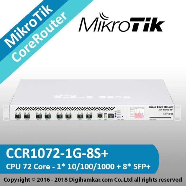 کر روتر میکروتیک مدل +CCR1072-1G-8S