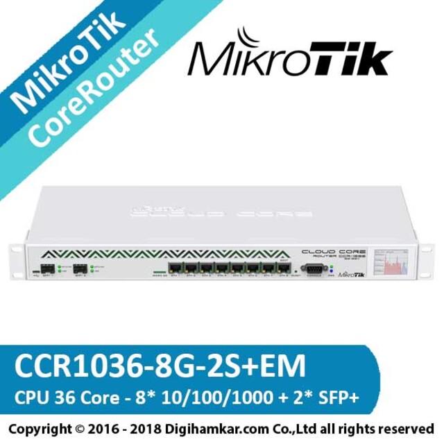 کر روتر میکروتیک مدل CCR1036-8G-2S+EM