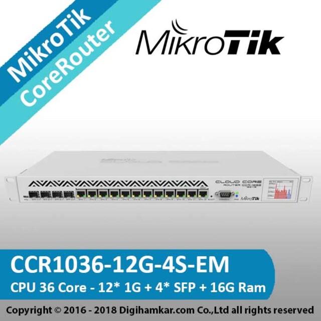 کر روتر میکروتیک مدل CCR1036-12G-4S-EM