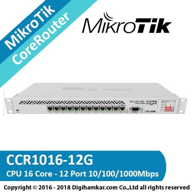 کر روتر میکروتیک مدل CCR1016-12G