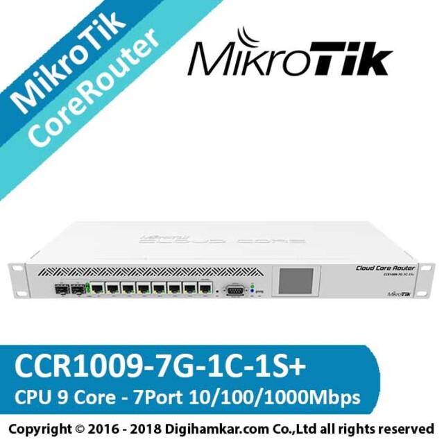 کر روتر میکروتیک مدل +CCR1009-7G-1C-1S