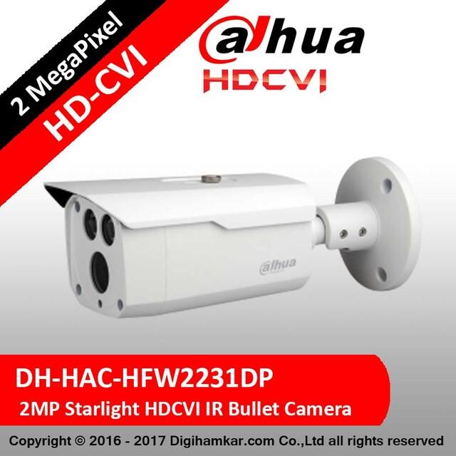 دوربین مداربسته بولت داهوا HD-CVI استارلایت مدل DH-HAC-HFW2231DP