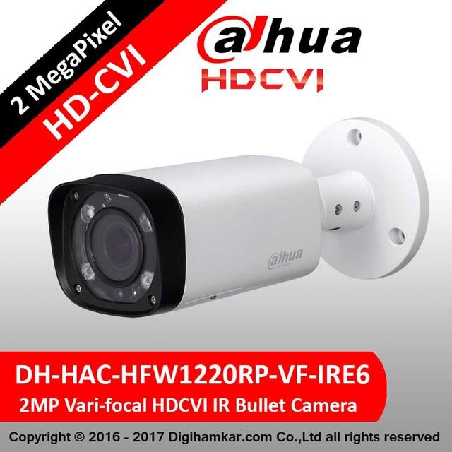 دوربین مداربسته بولت داهوا HD-CVI مدل DH-HAC-HFW1220RP-VF-IRE6