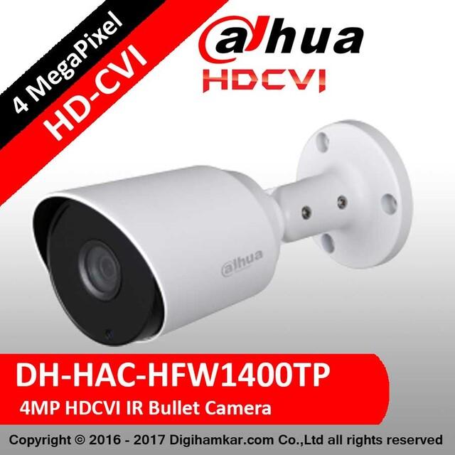 دوربین مداربسته آنالوگ بولت داهوا HD-CVI مدل DH-HAC-HFW1400TP