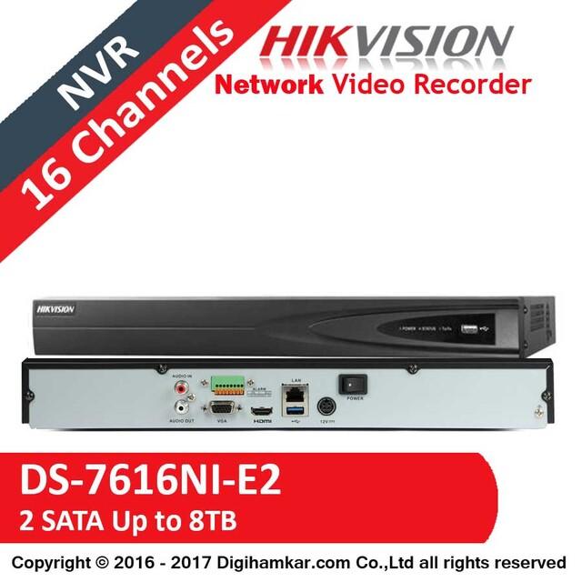 ضبط کننده ویدیویی تحت شبکه NVR هایک ویژن مدل DS-7616NI-E2